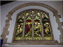 TQ2075 : St Mary the Virgin, Mortlake: stained glass window (b) by Basher Eyre