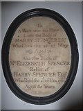 TQ2075 : St Mary the Virgin, Mortlake: memorial (k) by Basher Eyre