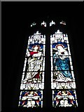 TQ2075 : St Mary the Virgin, Mortlake: stained glass window (f) by Basher Eyre