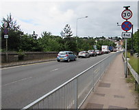 ST5393 : From 50 to 30 on the A48, Chepstow by Jaggery