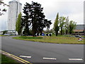 ST2995 : Roundabout in Southville, Cwmbran by Jaggery