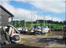 SX4268 : Boatyard on the Tamar by Des Blenkinsopp