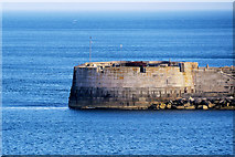 SY7074 : Inner Pierhead Fort , Portland Harbour by David Dixon