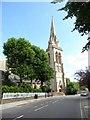 TQ1874 : St Matthias, Richmond: spire by Basher Eyre