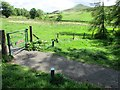 NO2206 : Gate on path to West Lomond by Bill Kasman