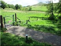 NO2206 : Gate on path to West Lomond by Bill Kasman