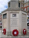 SY6879 : Ranger Memorial, Weymouth Esplanade (base detail 2) by David Dixon