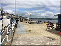 SY6879 : Weymouth Beach by David Dixon