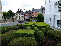 H4472 : Sculptured hedge along Church Street, Omagh by Kenneth  Allen