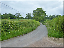 ST6822 : Lane north from Stowell church and farm by Robin Webster
