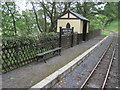 SN7078 : Rheidol Falls railway station, Ceredigion by Nigel Thompson