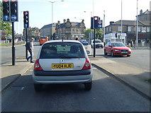 SE1437 : Otley Road/Briggate junction, Shipley by Colin Pyle