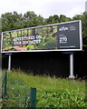 ST2077 : Wide advertising board facing Newport Road, Cardiff by Jaggery