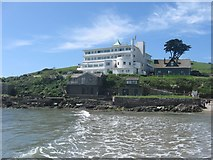 SX6443 : Burgh Island and its famous hotel, Bigbury-on-Sea , Devon. Taken from the Sea Tractor by Derek Voller