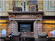 NZ2463 : The Centurion Bar, Newcastle Central Station - fireplace by Mike Quinn