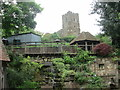 TL0138 : St Michael & All Angels Church, Millbrook from below by Peter S