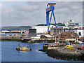 NT0982 : Goliath Crane at Rosyth Dockyard by David Dixon