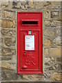 TL1998 : Wall-mounted GVIR postbox at Peterborough Cathedral by Paul Bryan