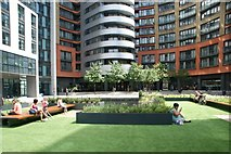 TQ2681 : View of Floating Pocket Park from the Paddington Basin #2 by Robert Lamb