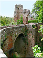 NT2762 : Rosslyn Castle, Bridge and Lantern Tower by David Dixon