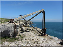 SY6869 : Old quarry hoist, Portland by Gareth James