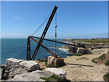 SY6868 : Old quarry hoist, Portland by Gareth James