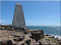 SY6768 : Obelisk at Portland Bill by Gareth James