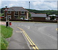 SO1409 : Ildiwch/Give Way sign facing Gelli Road, Tredegar by Jaggery
