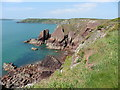 SM8406 : The Pembrokeshire Coast Path near Rock's Nest Point by Dave Kelly