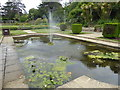 TR2236 : One of the ornamental ponds in Kingsnorth Gardens by Marathon