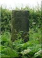 SE3741 : Back of milestone, Milner Lane, Scarcroft by Humphrey Bolton