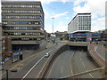 NZ2564 : The A167(M) in Newcastle city centre by Thomas Nugent