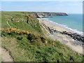 SM7807 : The Pembrokeshire Coast Path near Marloes Sands by Dave Kelly