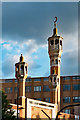TQ3481 : Minarets, East London Mosque, Whitechapel by Julian Osley