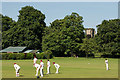 SK3516 : Cricket in the Bath Grounds, Ashby by Oliver Mills