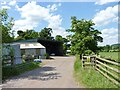 SO9561 : Farm buildings near Mere Hall Farm by Jeff Gogarty