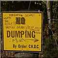 NS7976 : No dumping sign by Richard Webb