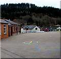 SO6015 : Colourful compass on Lydbrook Primary School playground, Lydbrook by Jaggery