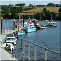 SW7934 : Boats moored alongside the jetty at Ponsharden by Robin Drayton
