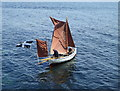 SW4726 : Dinghy leaving Mousehole harbour by pam fray