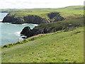 SM7830 : The Pembrokeshire Coast Path near Trwyn Aber-pwll by Dave Kelly