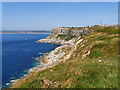 SY6770 : Cliffs near Weston by David Dixon