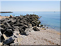 SY4590 : Rock Groyne at West Bay by David Dixon