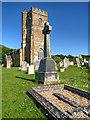SY5785 : Abbotsbury War Memorial and Parish Church by David Dixon