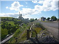 NT7176 : East Lothian Landscape : Dunbar Cement Works From The East by Richard West