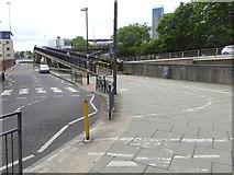 NZ2564 : Ramp up to the Camden Street Footbridge by Oliver Dixon