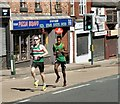 SJ9594 : Hyde 7 Road Race 2017: Gareth Raven and Mussie Kassa by Gerald England