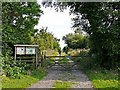 NY2061 : Entrance to Bowness-on-Solway Nature Reserve by Rose and Trev Clough