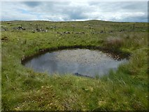 NS2673 : Bomb crater near Old Largs Road by Lairich Rig