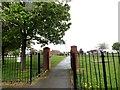 NZ3857 : Entrance to Diamond Hall Pocket Park by Robert Graham